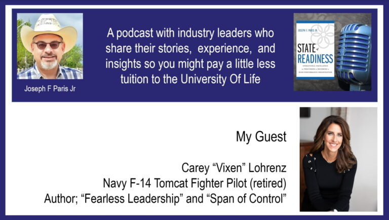 """State of Readiness; Carey """"Vixen"""" Lohrenz, US Navy F-14 Fighter Pilot and Author"""